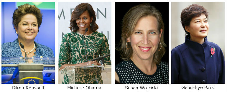 "Women from the Forbes ""World's 100 Most Powerful Women"""