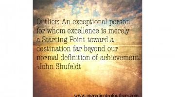 outlier quote by john shufeldt
