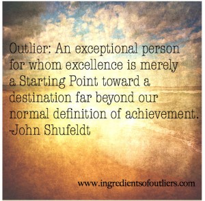outlier quote by john shufeldt