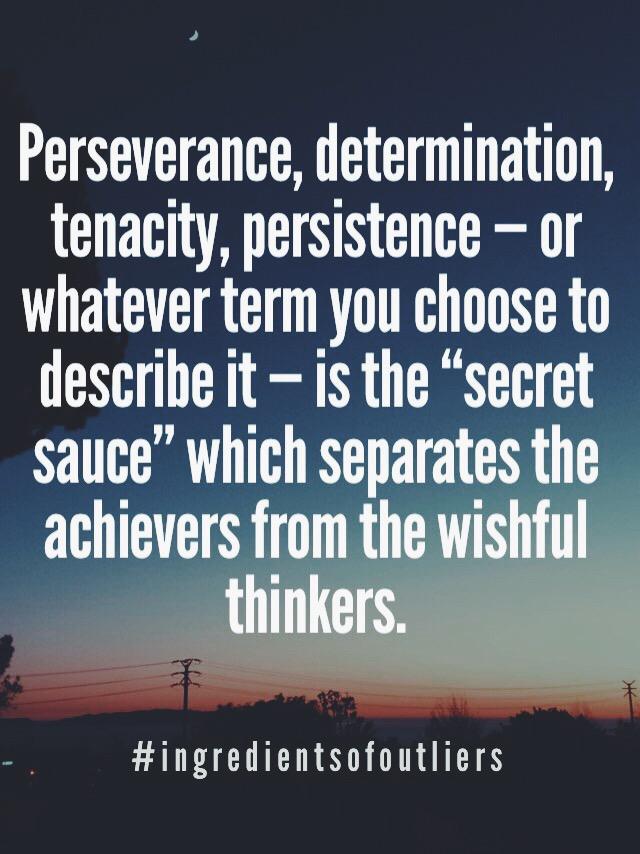 Perseverance Tenacity Determination