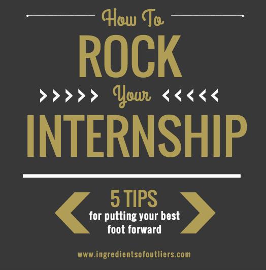 how to rock an internship