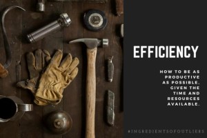 Efficiency—How to be as Productive as Possible