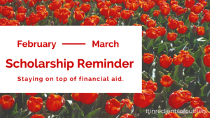 Have you heard back yet from that college or scholarship you applied to? What you should be doing NOW to stay on top of financial aid and college applications.
