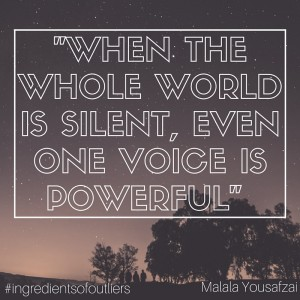 When the whole world is silent, even one voice is powerful
