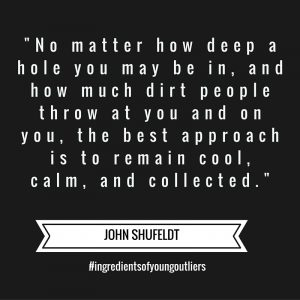 "John says, ""No matter how deep a hole you may be in…"""