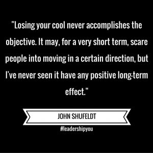 John Says – Losing Your Cool Has No Effect