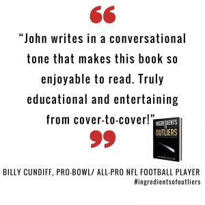 Book Review Appreciation – Billy Cundiff, Pro-Bowl / All-Pro NFL Football Player