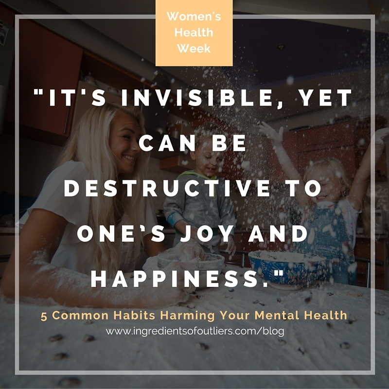 It's invisible, yet can be destructive to one's joy and happiness.